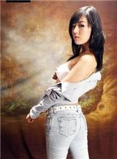 黄美姬清纯牛子裤 照片