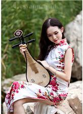 西安旗袍美女 美女旗袍开叉到腰