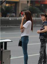 大学生紧身牛仔裤女裤 抄底