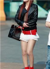 重庆步行街街拍美女