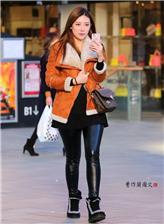 美女黑色紧身裤子 超短紧身皮裤图片