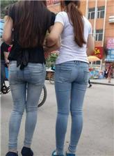紧身牛仔裤的美臀,视频 街拍火车站紧身牛仔裤