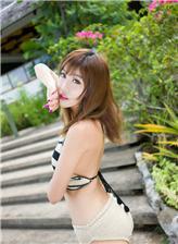 K8写真福利写真在线 大孔针织美女内衣写真