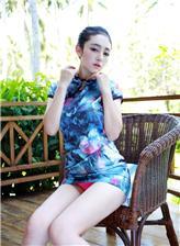 透明蕾丝旗袍露底勾魂写真