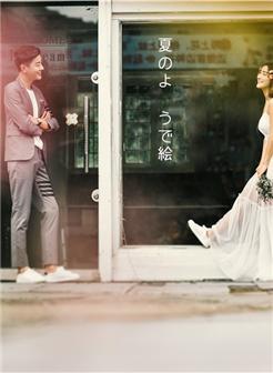 街头婚纱美女写真,写到现实中的爱情