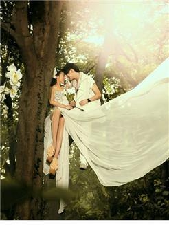 林间森系唯美婚纱写真