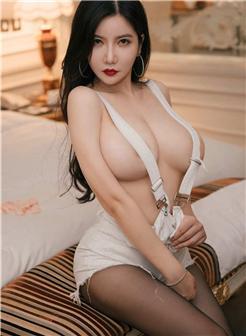 m376心妍小公主翘臀吊带裤G奶火辣写真