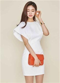 [办公室同事11p]白色紧身裙气质写真集
