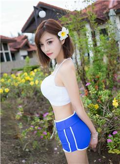 杨晨晨室外校服巨乳短裤紧身写真集
