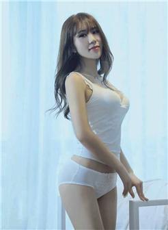 [小嫩嫩7p]气质坚挺美胸嫩模白色吊带内衣写真集