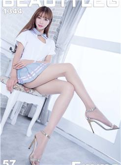 江雨恩白色高跟鞋丝袜美腿写真