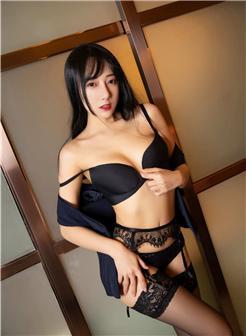 模范学院猩一真名何嘉颖职业装性感蕾丝黑裤