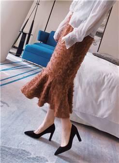 [王小毒]雾里看花 太女人轻熟女三角跟高跟羊猄女鞋3.