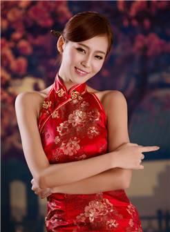 【旗袍美女】红色旗袍 性感迷人
