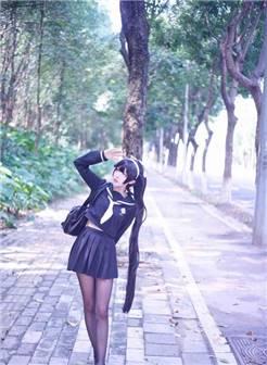 碧蓝航线高雄獒cos:jk制服小姐姐,看完控制不住舔屏的
