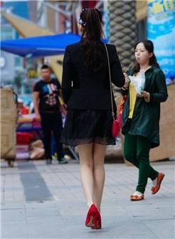 墨镜美女 高跟美腿-3a街拍