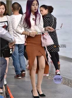 3a街拍_【丝工坊】2017.9.1出挑的紫发美丽的肉丝