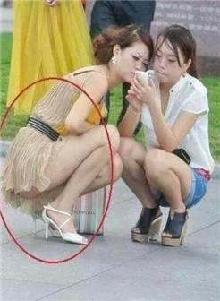 美女穿裙子看到内裤图片
