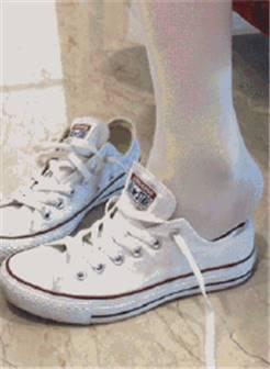 帆布鞋加白丝肉丝儿吧