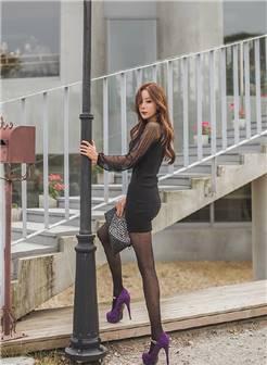 超短裙美女黑丝高跟性感美腿妖娆写真图片