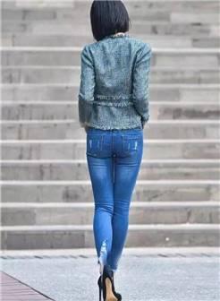 牛仔裤高跟鞋美女 美女牛仔高跟鞋写真