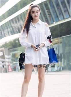 路人街拍, 北京潮流美女清爽穿搭时尚,好看