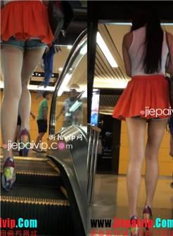 个头好高挑的性感气质美女 走光 电梯 超短裙 街拍 逍遥会员区 街拍