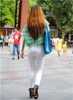 紧致白裤 - 魅力街拍 - 魔镜原创摄影