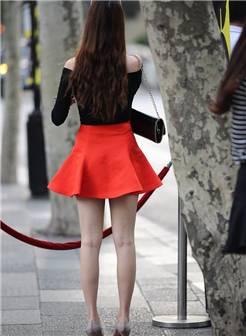 短裙高跟 长腿美女