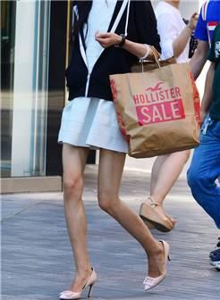 白裙 高跟 美腿-3a街拍