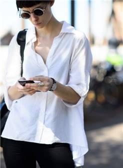 欧美街拍之白衬衫