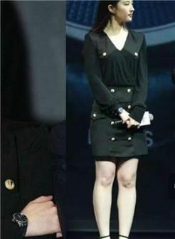 刘亦菲黑裙,象腿