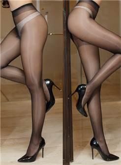 油光丝袜性感黑丝超滑珠光肉色t档油亮女袜子美女夜店诱惑连裤袜
