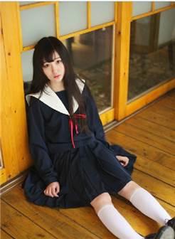 实拍名古屋日本正统水手服女生制服