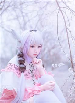 cos正片 樱花下白丝美少女小林家的龙女仆 萝莉康娜卡姆依