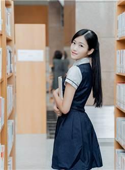 在图书馆拍拍jk~写真