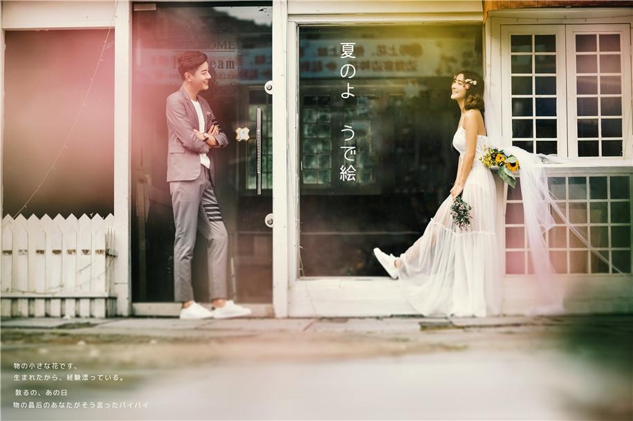 街头婚纱美女写真,写到现实中的爱情(点击浏览下一张趣图)