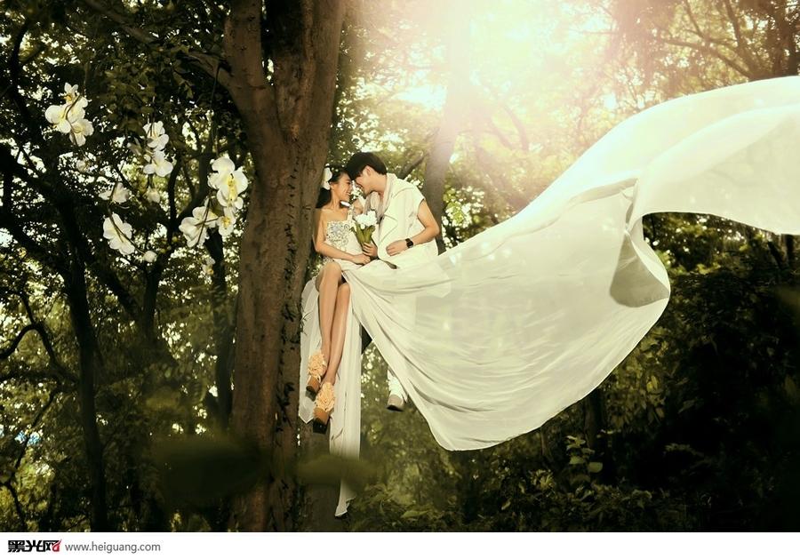 林间森系唯美婚纱写真(点击浏览下一张趣图)